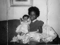 Michele with Black Doll 1960